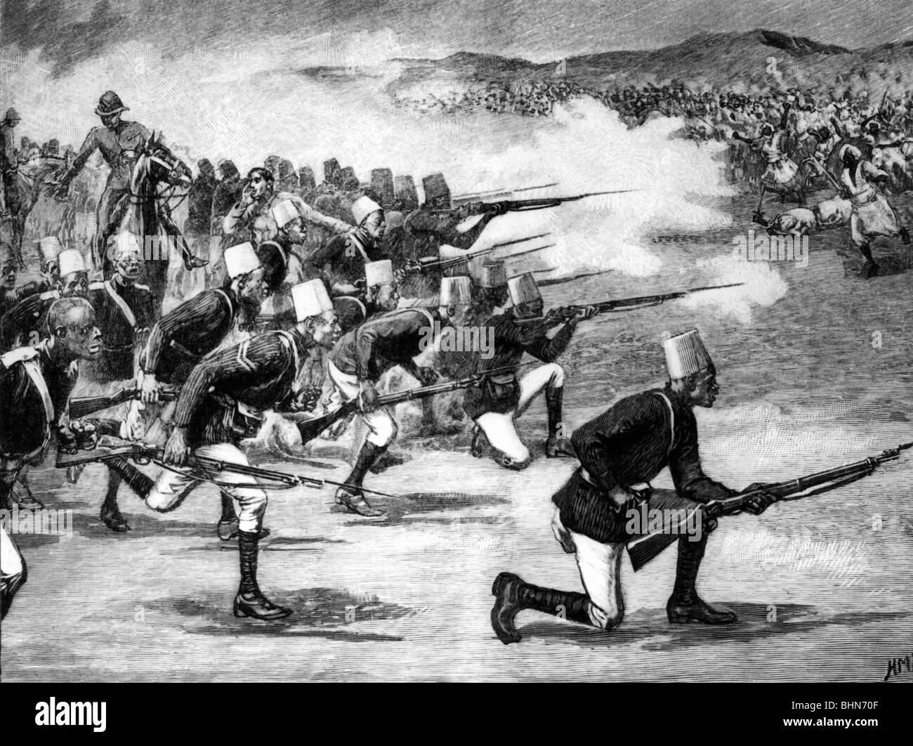 geography / travel, Africa, Sudan, revolt of Mahdi, Omdurman battle, 2.9.1898, Additional-Rights-Clearances-NA - Stock Image