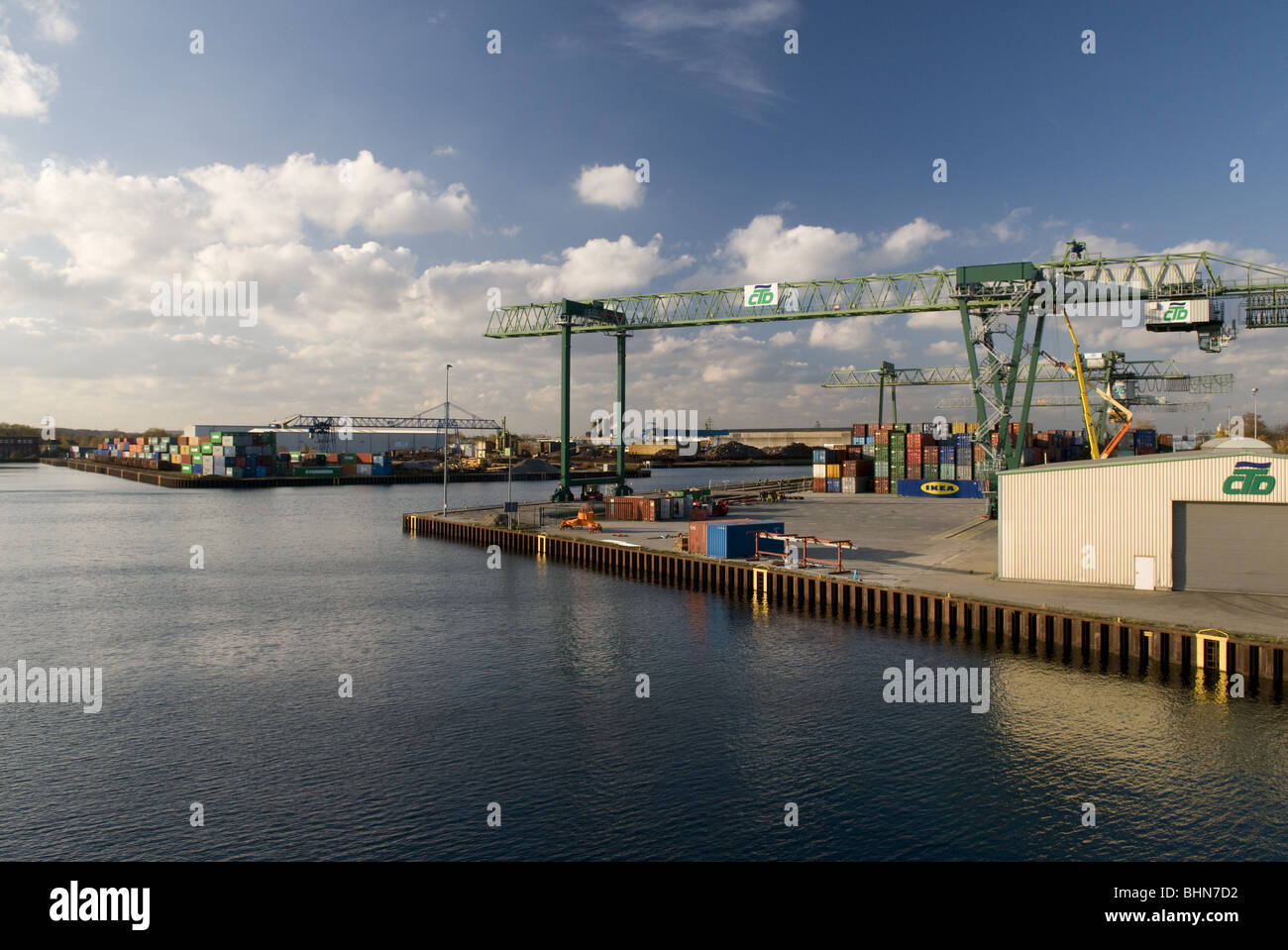 geography / travel, Germany, North Rhine-Westphalia, Ruhr area, Ruhr Valley, Dortmund, harbour, container port, - Stock Image