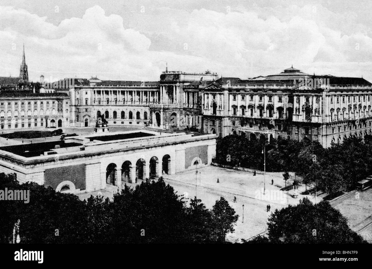geography / travel, Austria, Vienna, Neue Hofburg with Burgtor, circa 1910, Additional-Rights-Clearances-NA - Stock Image