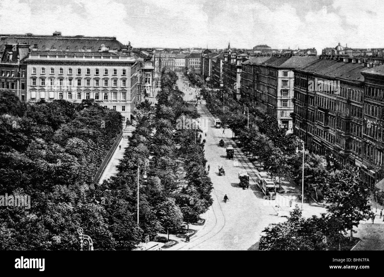 geography / travel, Austria, Vienna, Ringstrasse, Opernring, circa 1910, historic, historical, 20th century, street, - Stock Image