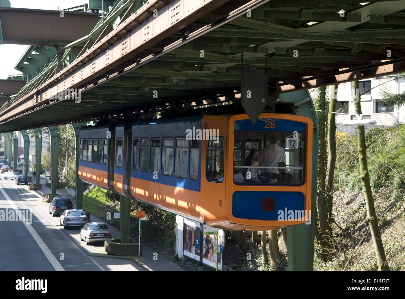 geography / travel, Germany, North Rhine-Westphalia, Bergisches Land, Wuppertal, suspension  railway, Additional Stock Photo
