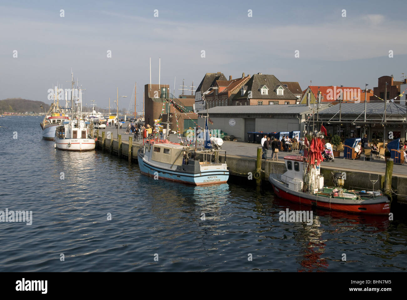 geography / travel, Germany, Schleswig-Holstein, Baltic Sea, Eckernfoerde, harbour, Additional-Rights-Clearance Stock Photo