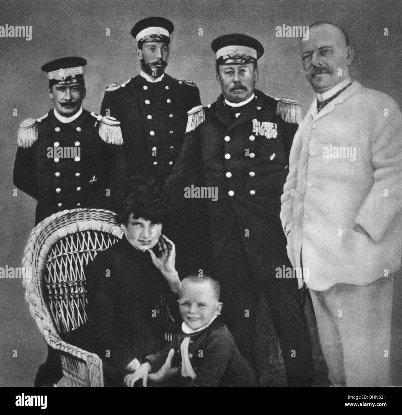 Goering, Hermann, 12.1.1893 - 15.10.1946, German politician (NSDAP), as child, group picture with his parents and - Stock Image