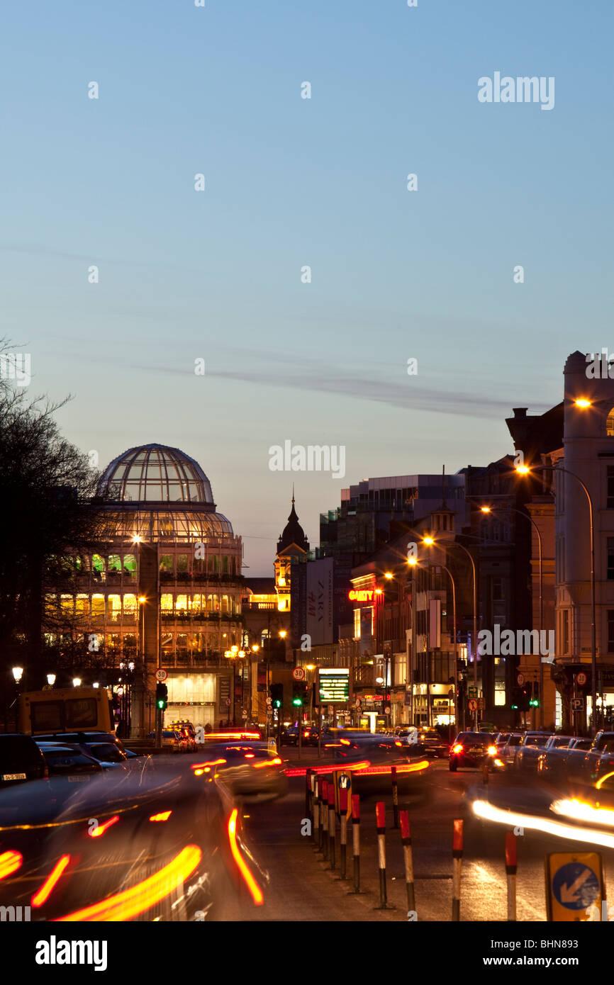 Dublin at night. Ireland. - Stock Image