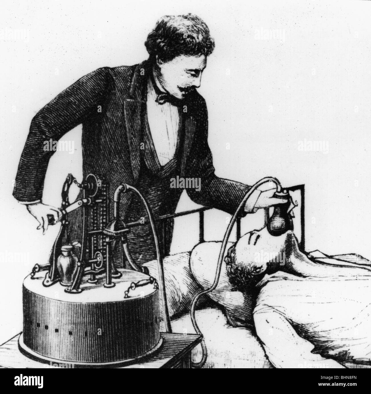 medicine, narcosis, anaesthetic machine, 2nd half of the 19th century, , Additional-Rights-Clearances-NA - Stock Image