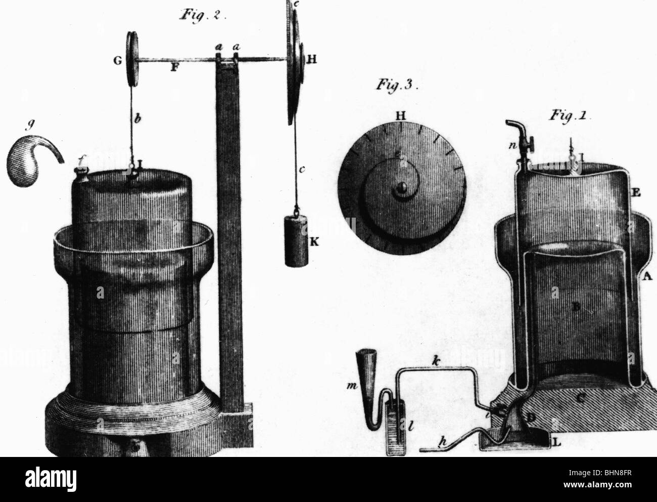 medicine, narcosis, anaesthetic machine by Humphry Davy, London, 1800, Additional-Rights-Clearances-NA - Stock Image