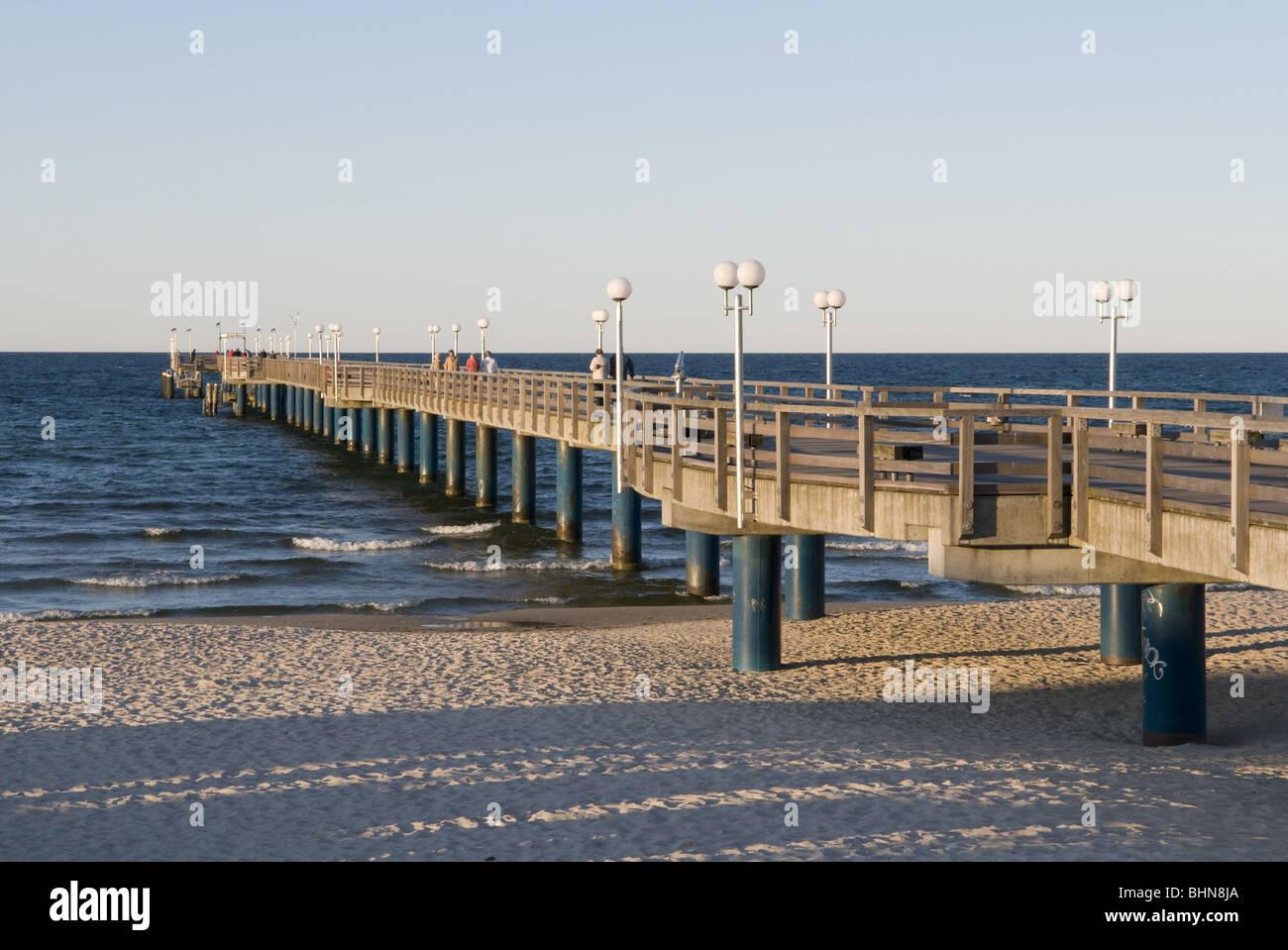 geography / travel, Germany, Mecklenburg-Western Pomerania, Ruegen, seaside resort Binz, pier, Additional-Rights Stock Photo