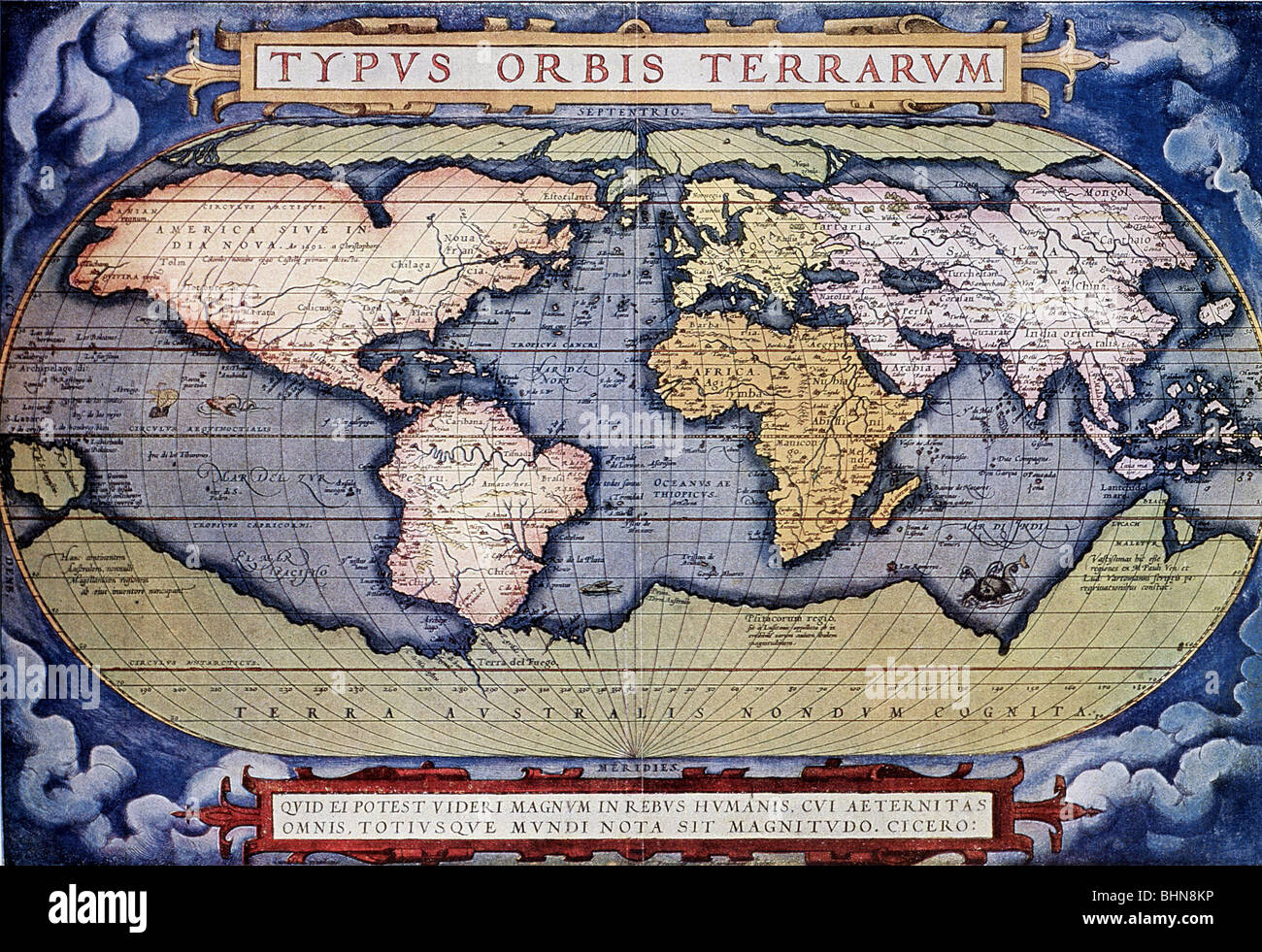 Cartography world maps typus orbus terrarum of abraham ortelius cartography world maps typus orbus terrarum of abraham ortelius 1571 colour print map america europe asia africa au gumiabroncs Gallery
