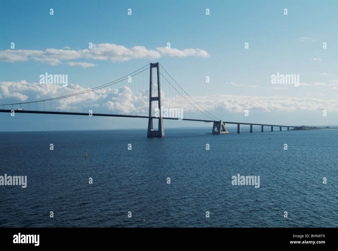 architecture, bridges, Great Belt Fixed Link across the Great Belt, Denmark, Additional-Rights-Clearance-Info-Not - Stock Image
