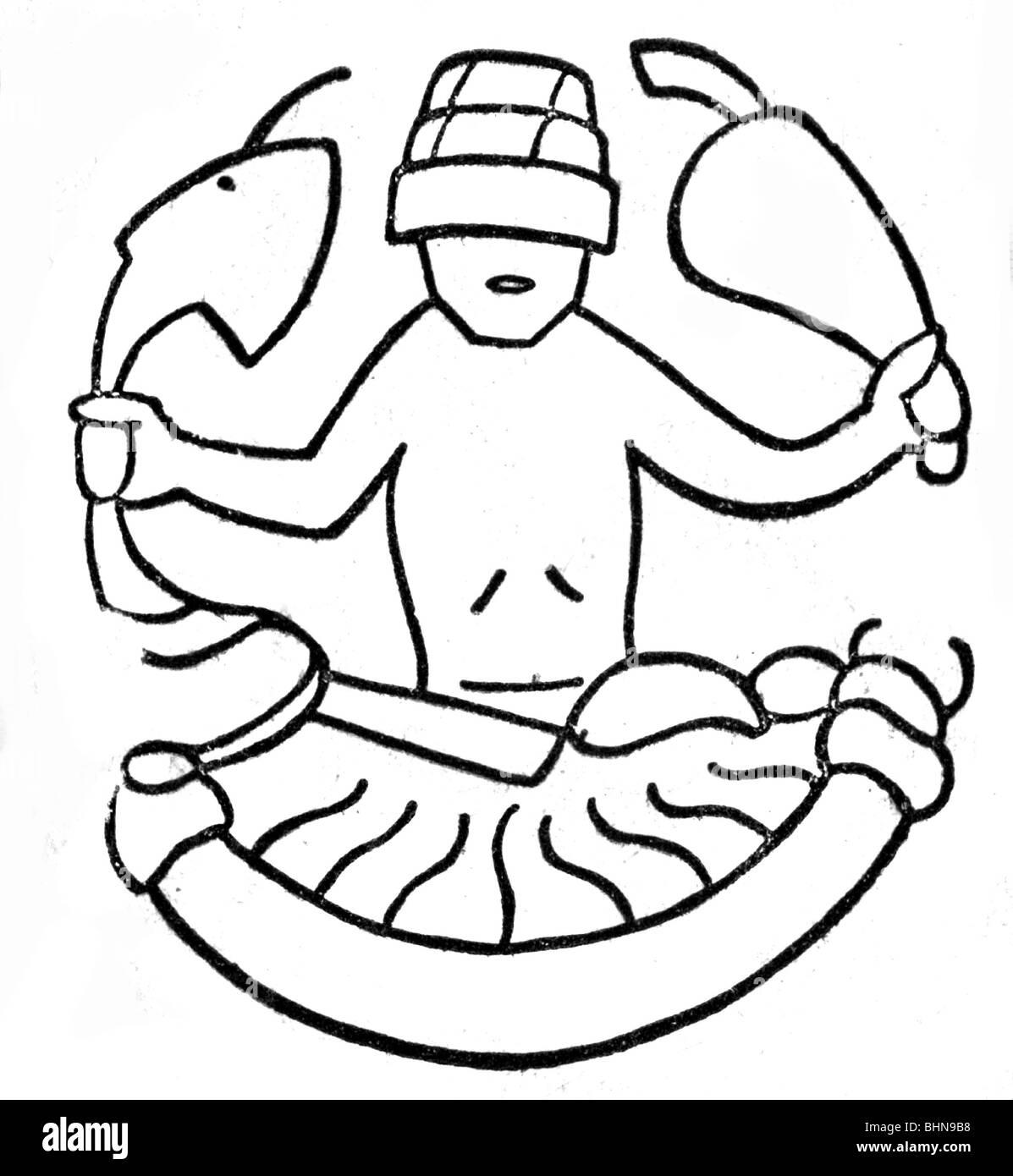 astrology, zodiac sign: Scorpius, old Arab image, Arabic, Arabian , Arab world, Scorpio, Scorpion, historic, historical, Stock Photo