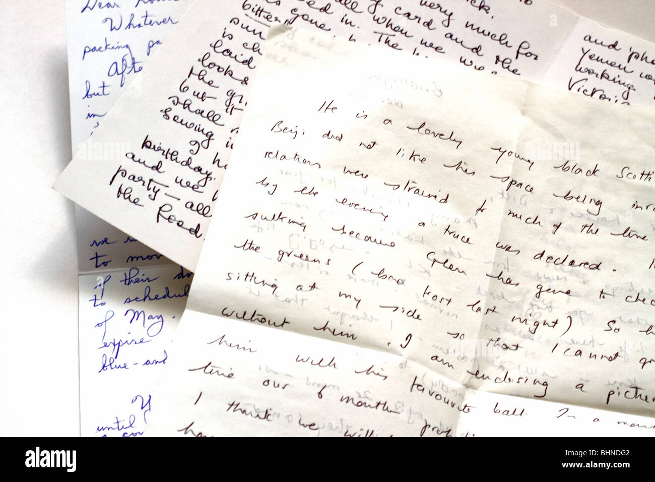 Hand written letters - Stock Image