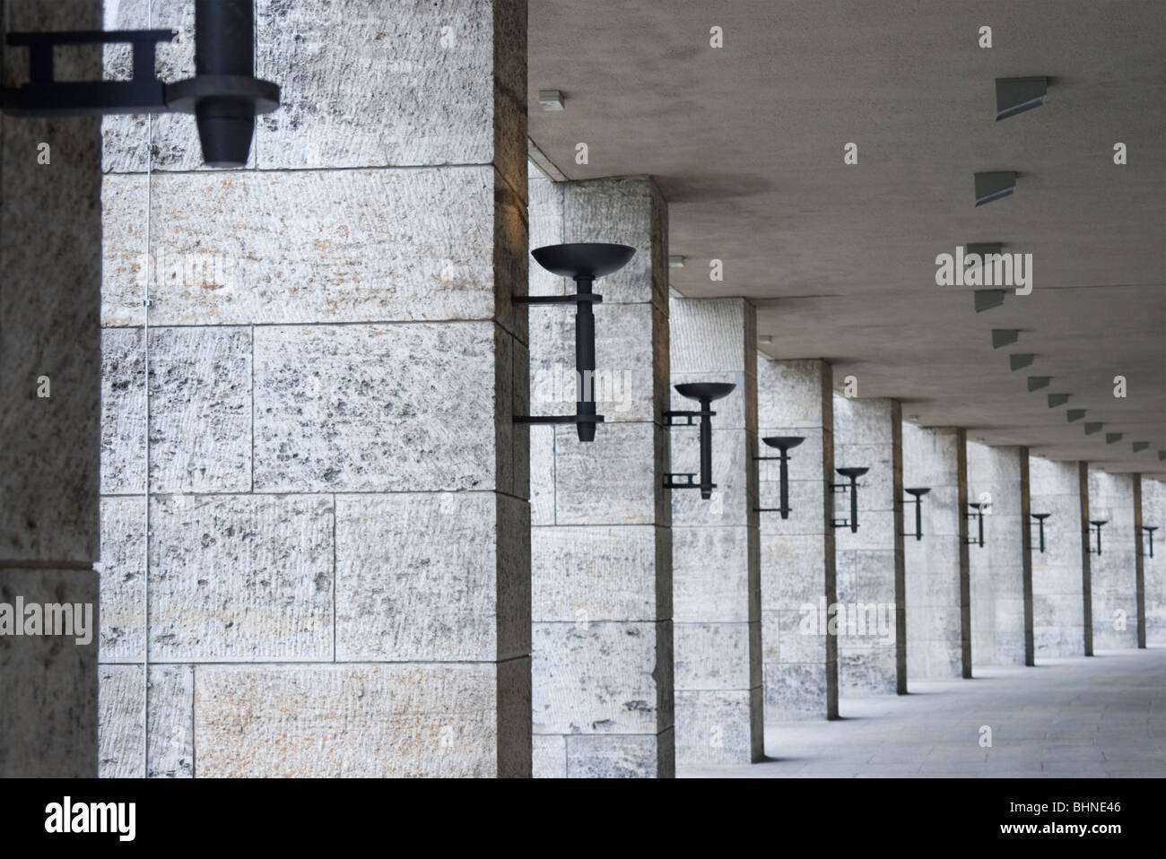 colonnades at Olympiastadion - Berlin - Germany - Stock Image