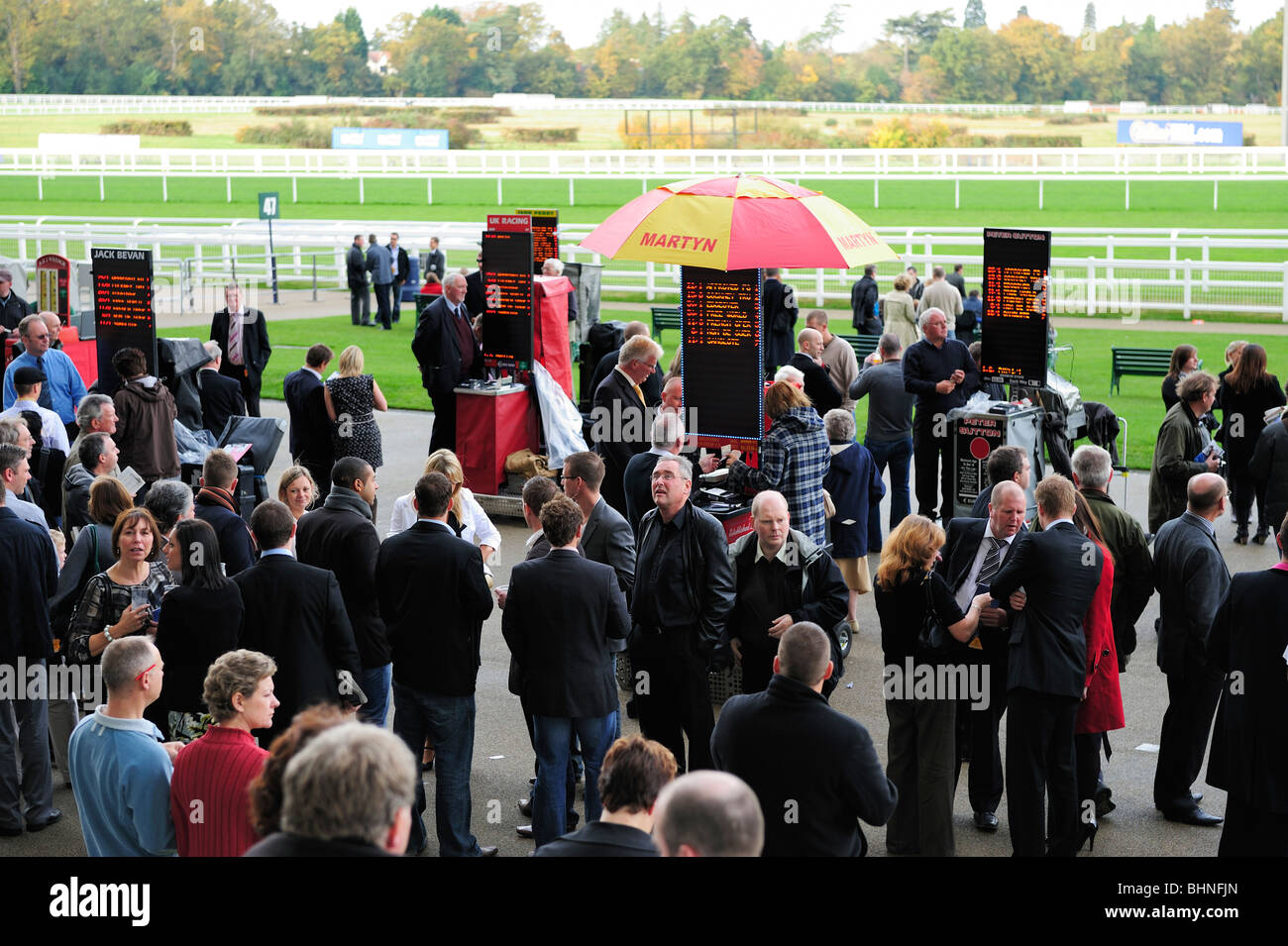Bookies at Royal Ascot Race Course, Berkshire, England - Stock Image