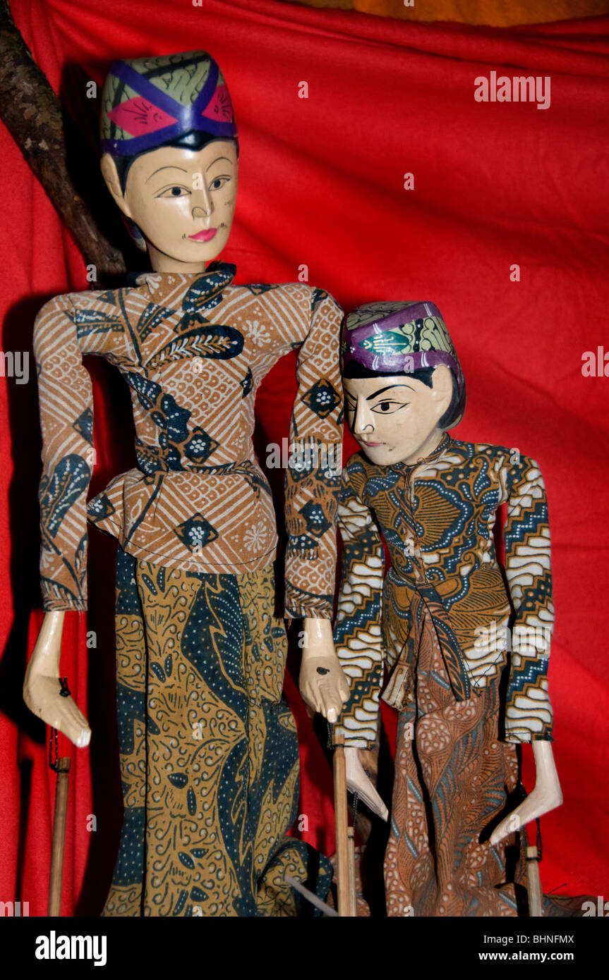 Indonesia bali puppet puppets doll dolls show - Stock Image