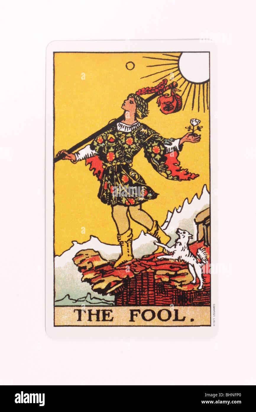 The Fool Tarot card. - Stock Image