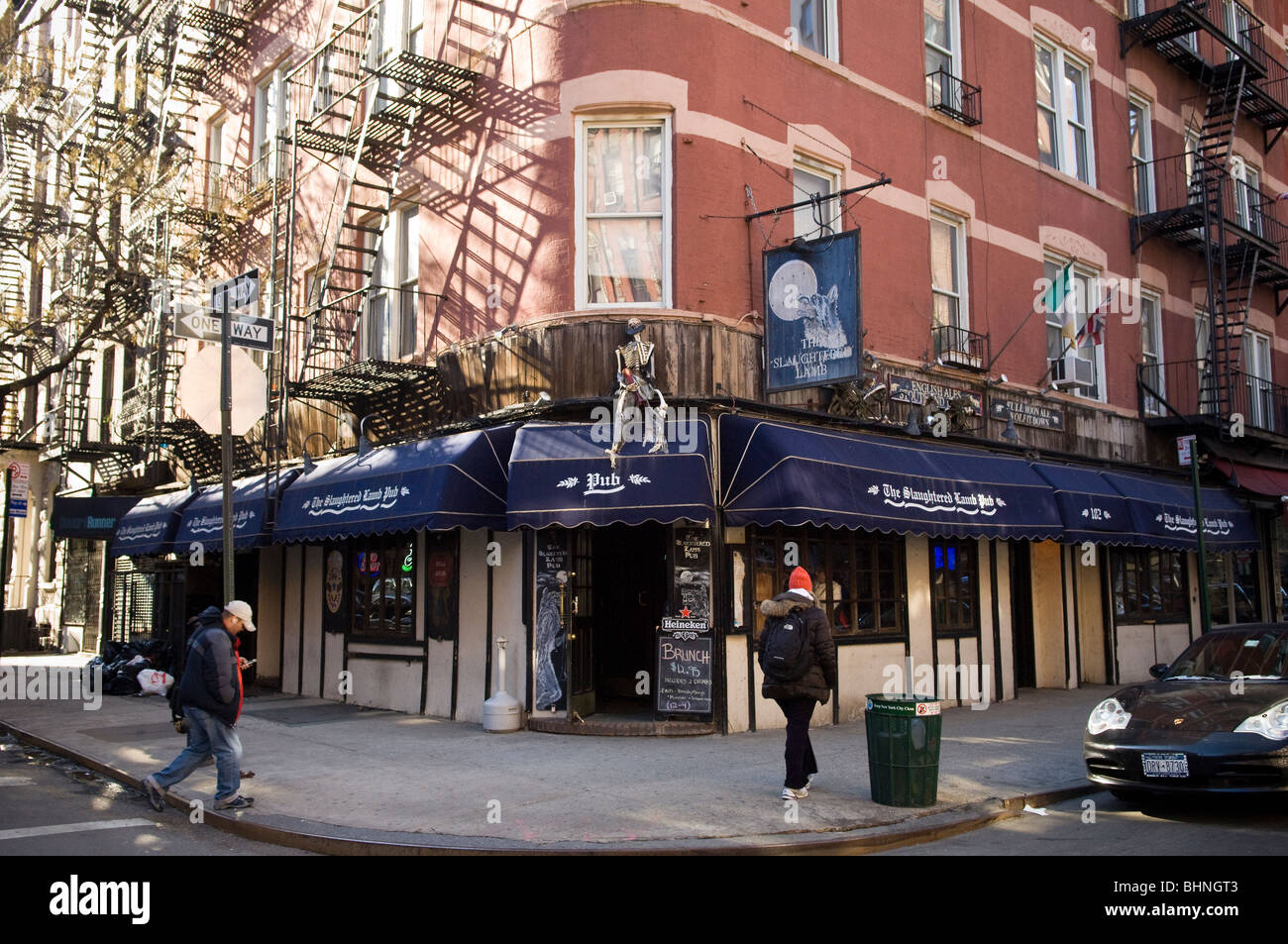 The Slaughtered Lamb Pub in Greenwich Village in New York - Stock Image
