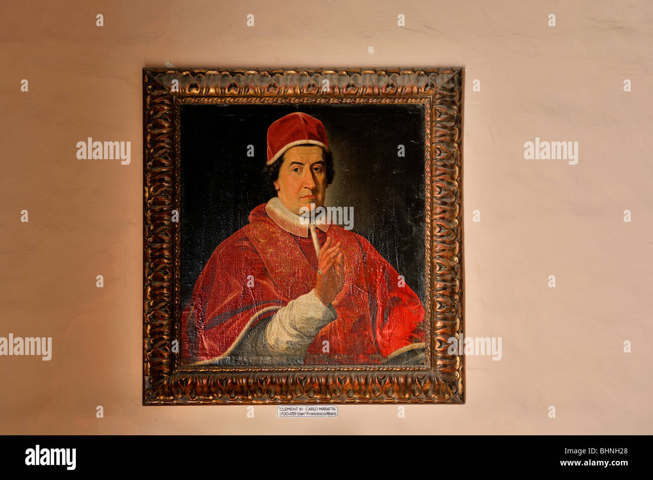 Pope Clement XI by Carlo Maratta - Stock Image