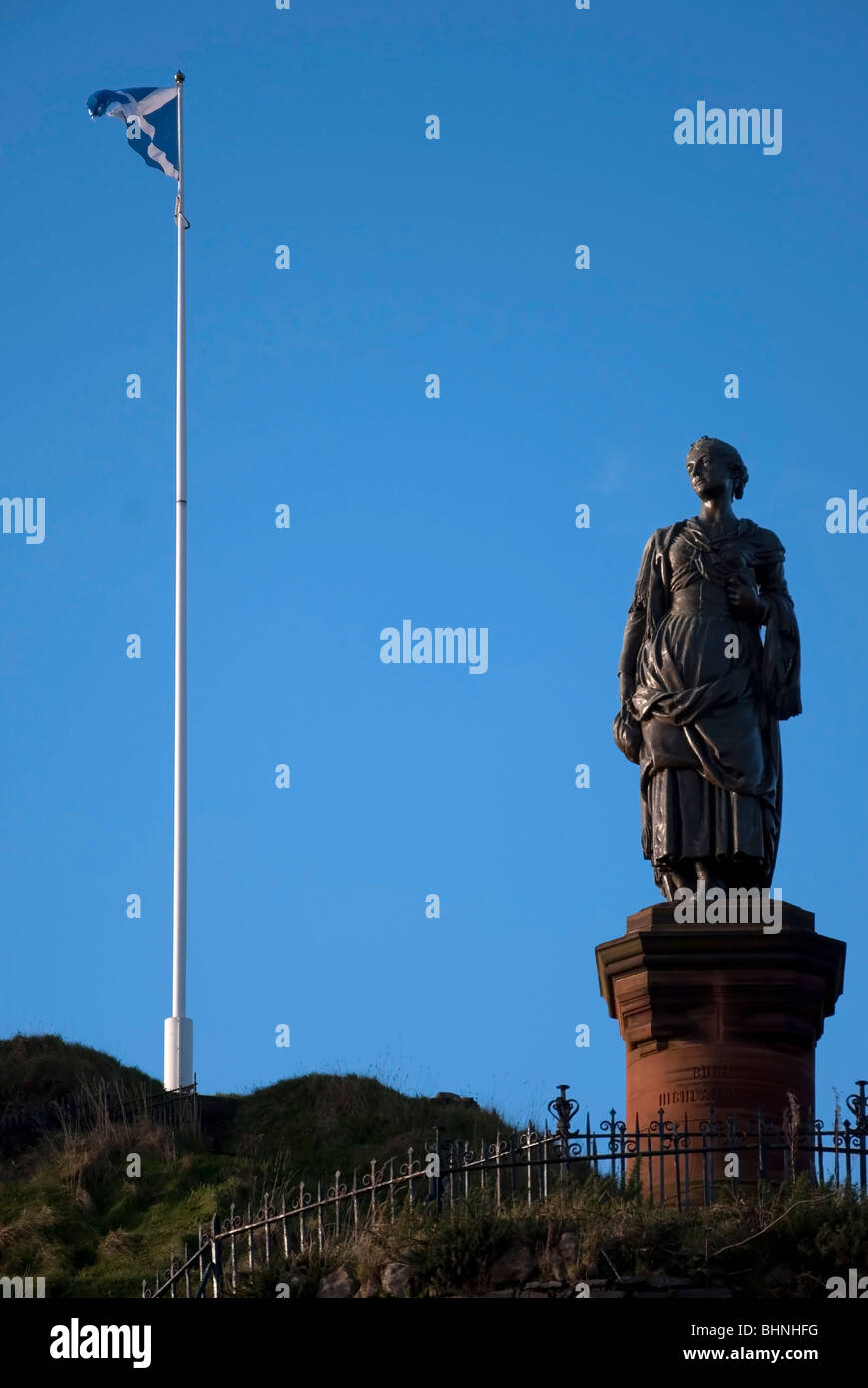 bronze statue highland mary campbell robert burns poet dunoon argyll - Stock Image