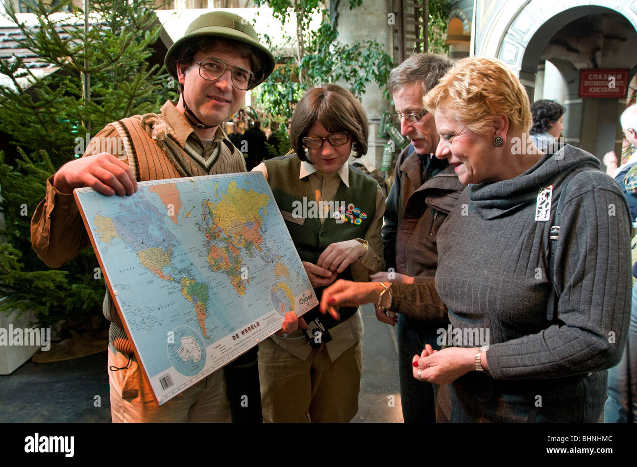 tourist office Information map of the world Stock Photo