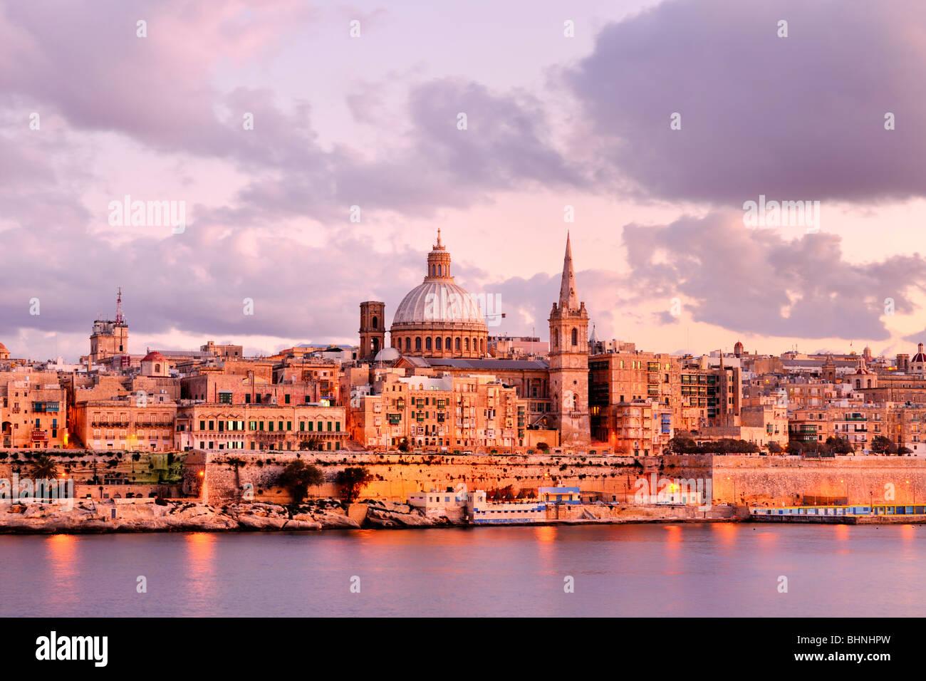 Valletta Carmelite Church Dome spire - Stock Image