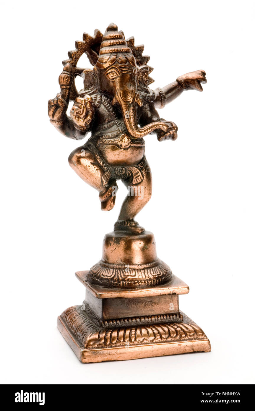 bronze statue of Gnesh - Stock Image