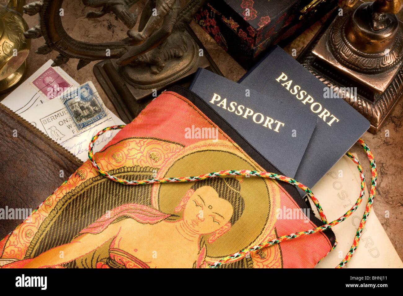 travel still life - Stock Image