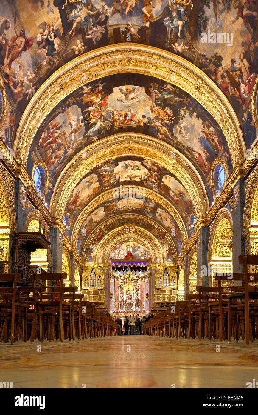 St Johns Co Cathedral, Valletta - Stock Image