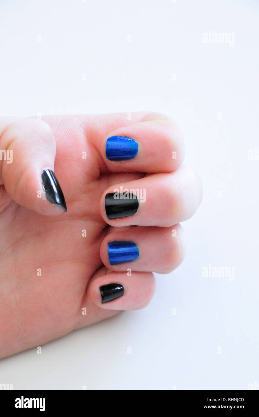 Painted Fingernails Stock Photos & Painted Fingernails Stock Images ...