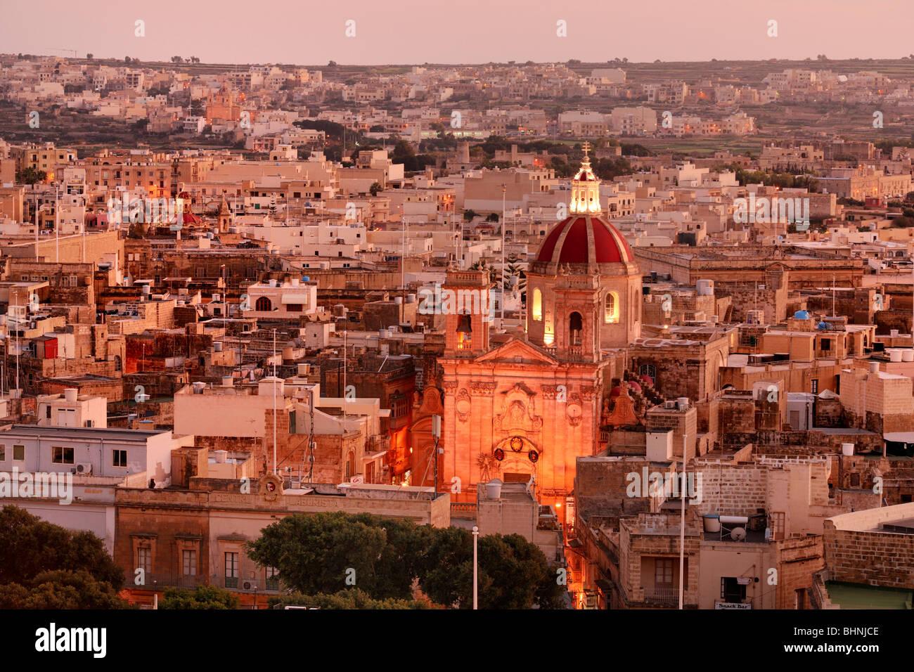 St George Basalica, Città Vittoria, Gozo - Stock Image