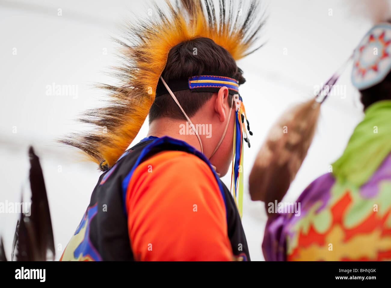 Native Canadian dancer, Festival du Voyageur, Winnipeg, Manitoba Canada. - Stock Image