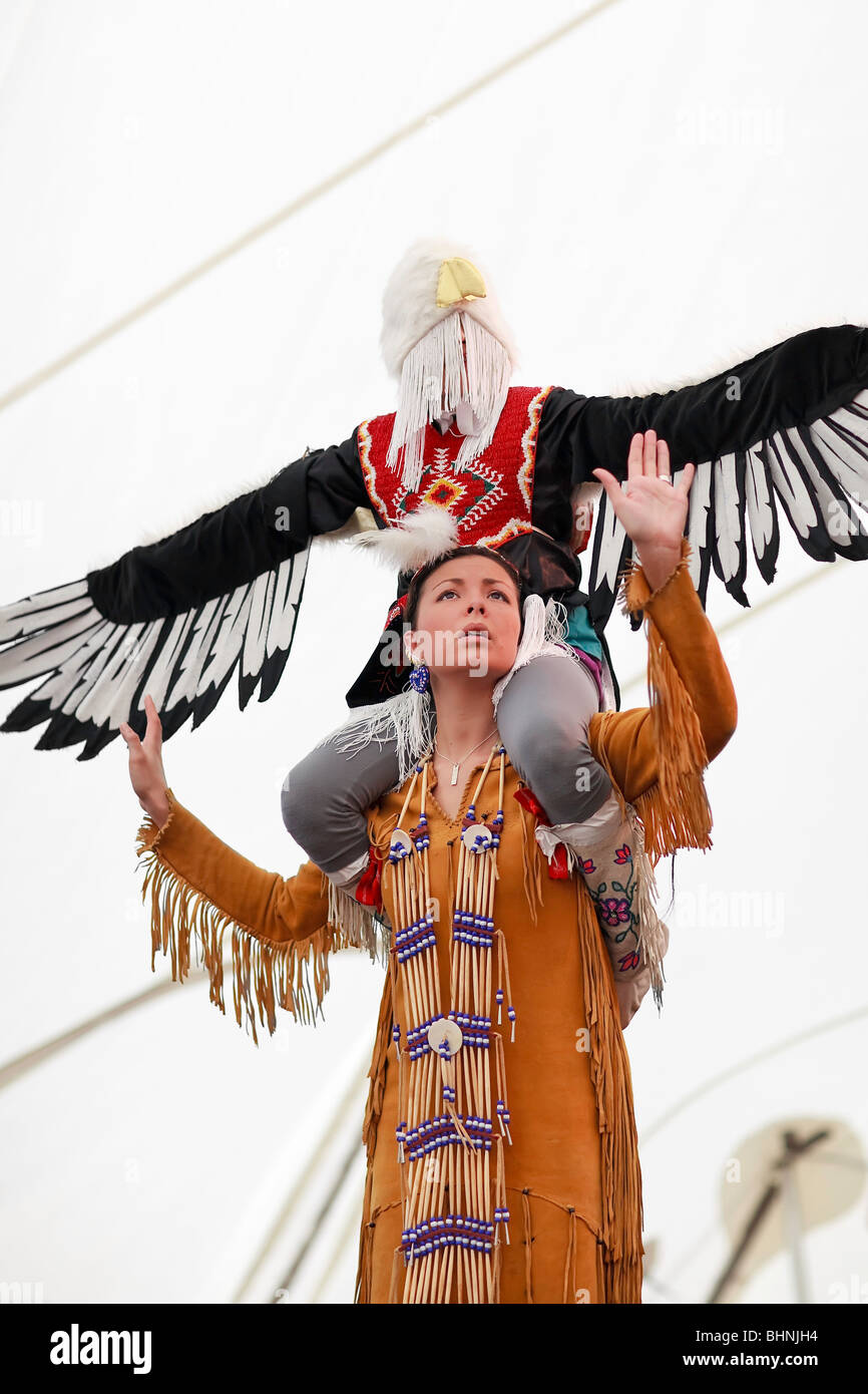 First Nations dancers, Festival du Voyageur, Winnipeg, Manitoba Canada. - Stock Image