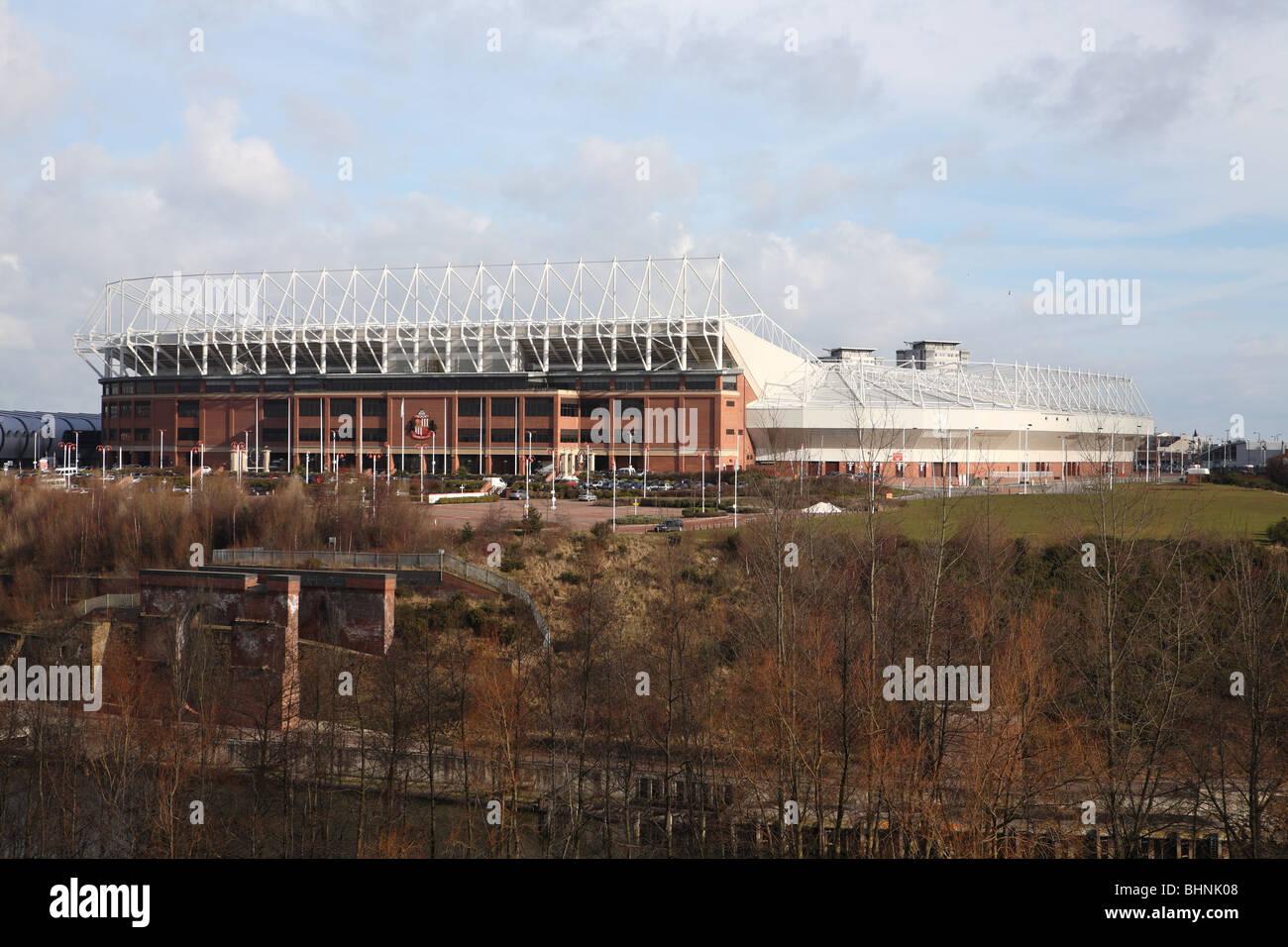 The Stadium of Light, home of Sunderland Association Football Club, Sunderland, England - Stock Image