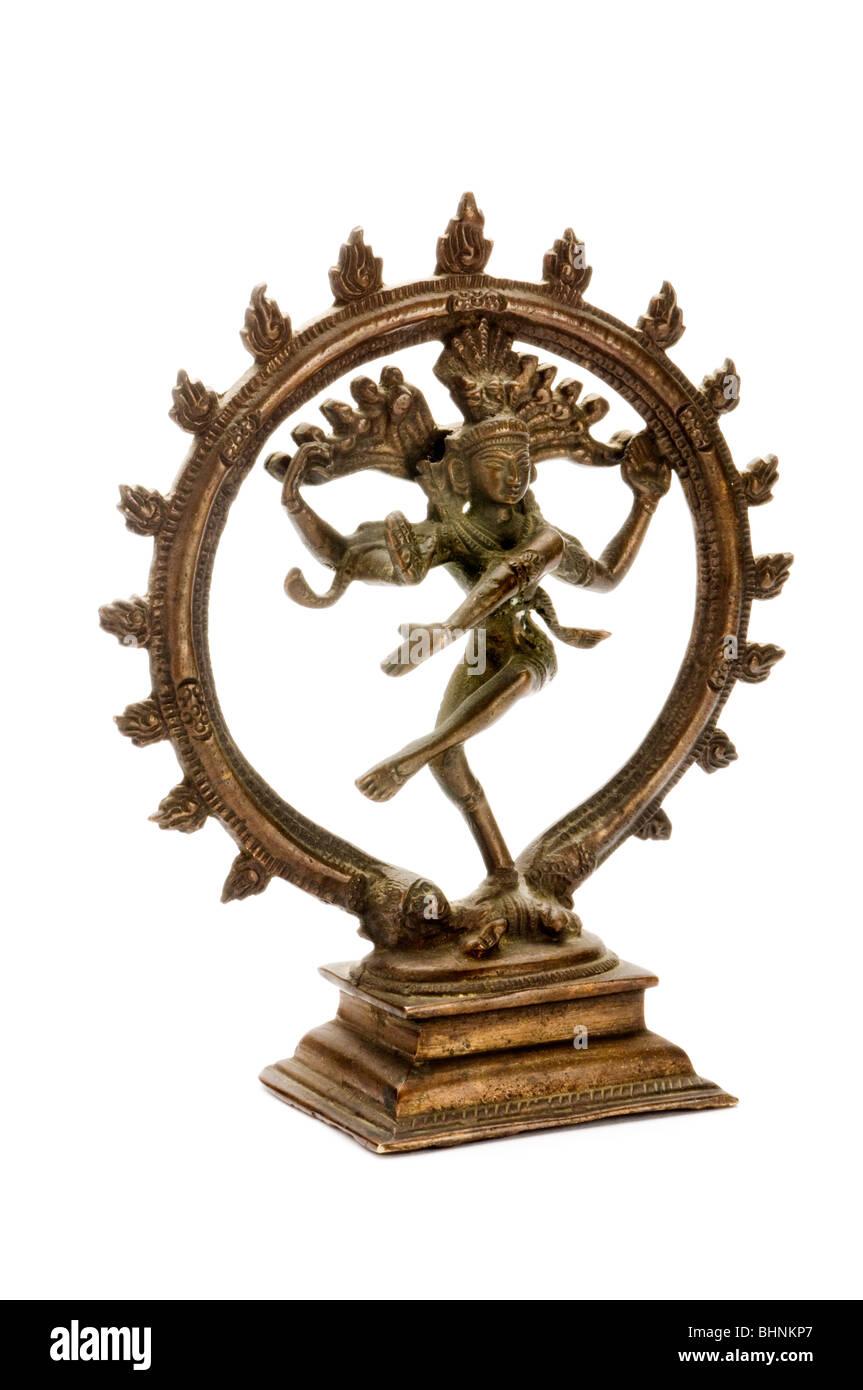 brone statue of vishnu - Stock Image
