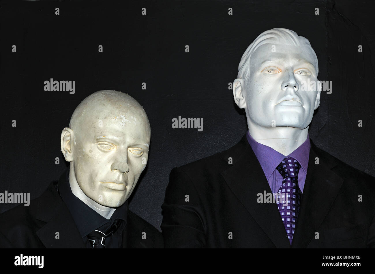 the plastic people from an episode of Dr.Who - Stock Image