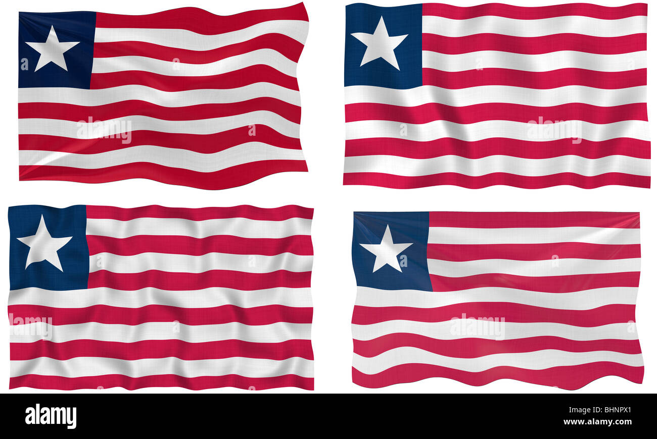 Great Image of the Flag of Liberia - Stock Image