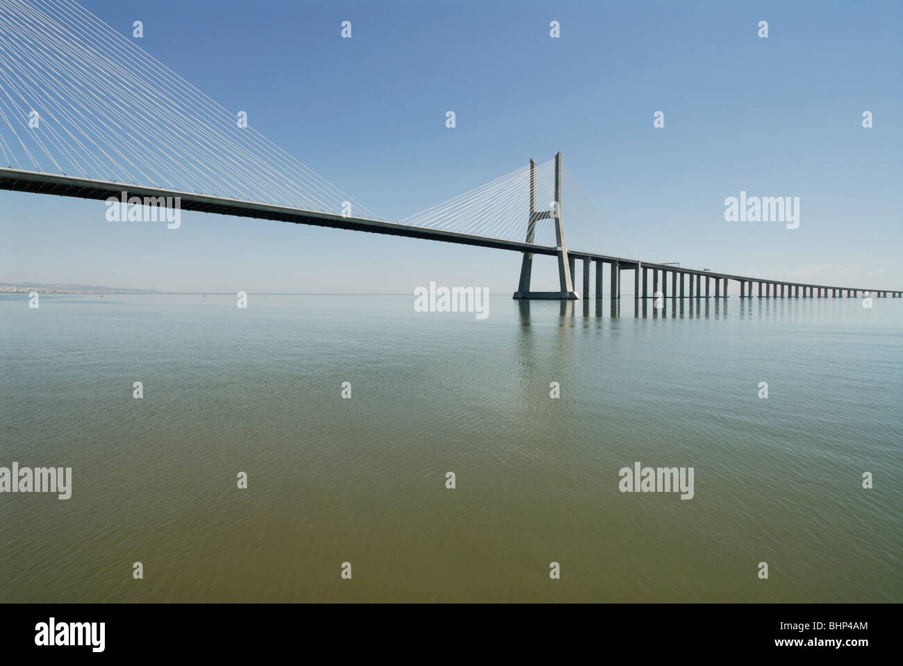 Lisbon. Portugal. Vasco da Gama bridge. - Stock Image