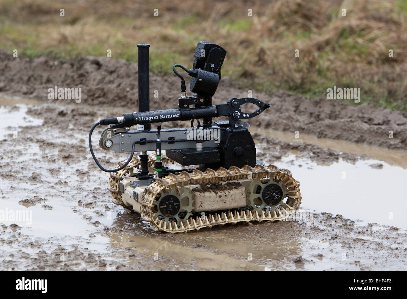 Remote controlled explosive detector used to detect IED's by the British Army in Afghanistan called a Dragon - Stock Image