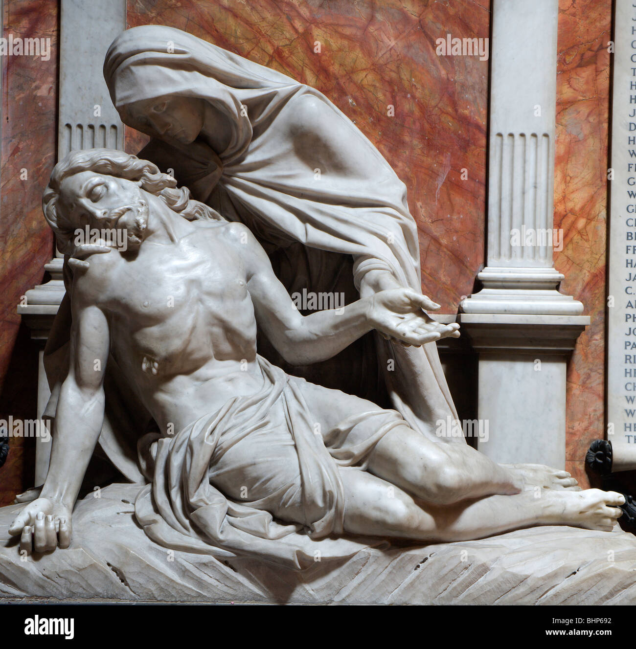 London - hl. Mary statue from st. Philip Neri church - Stock Image