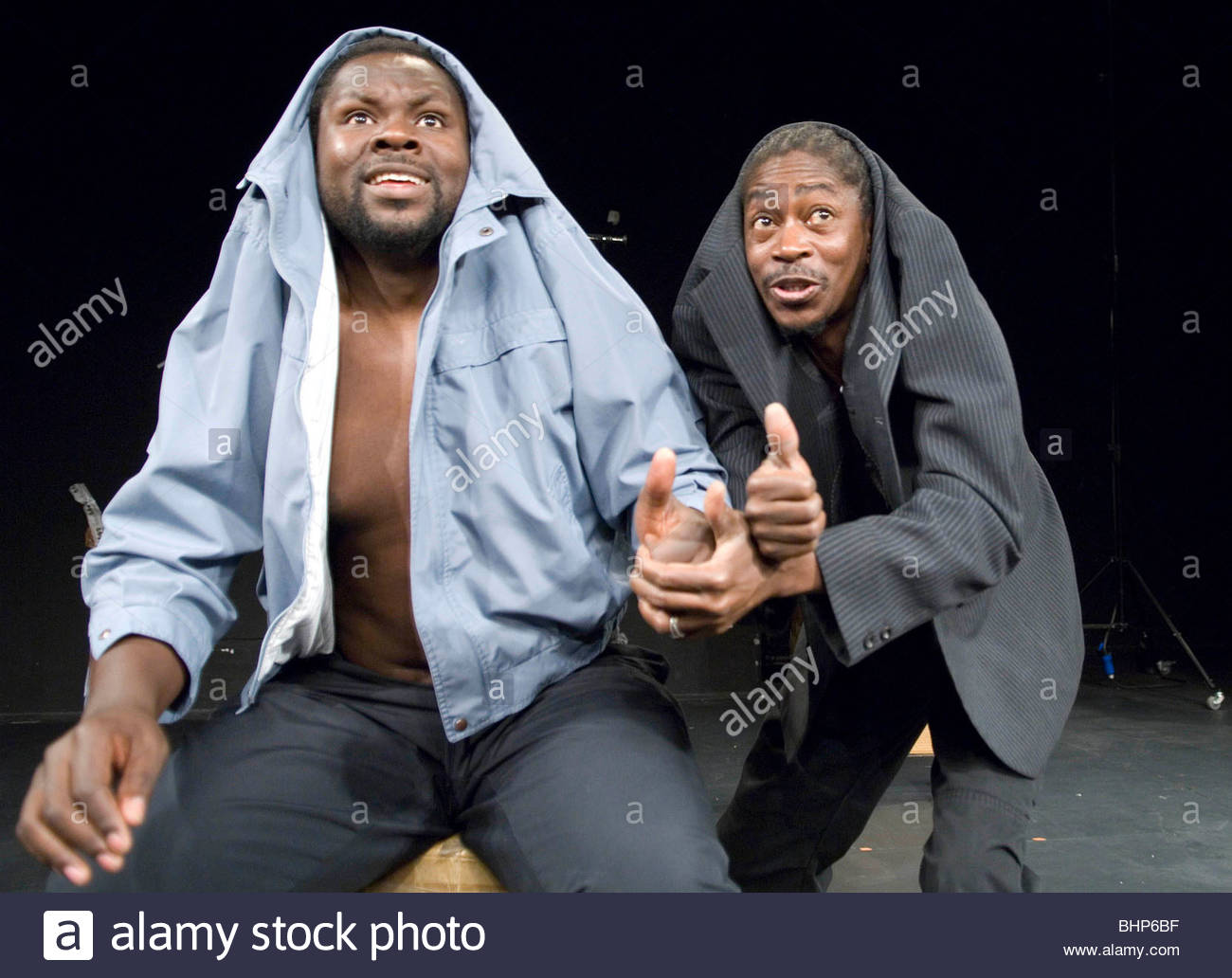 Sizwe Banzi is Dead by Athol Fugard ,directed by Peter Brook. With Habib Dembele as Styles, Pitcho Womba Konga as - Stock Image