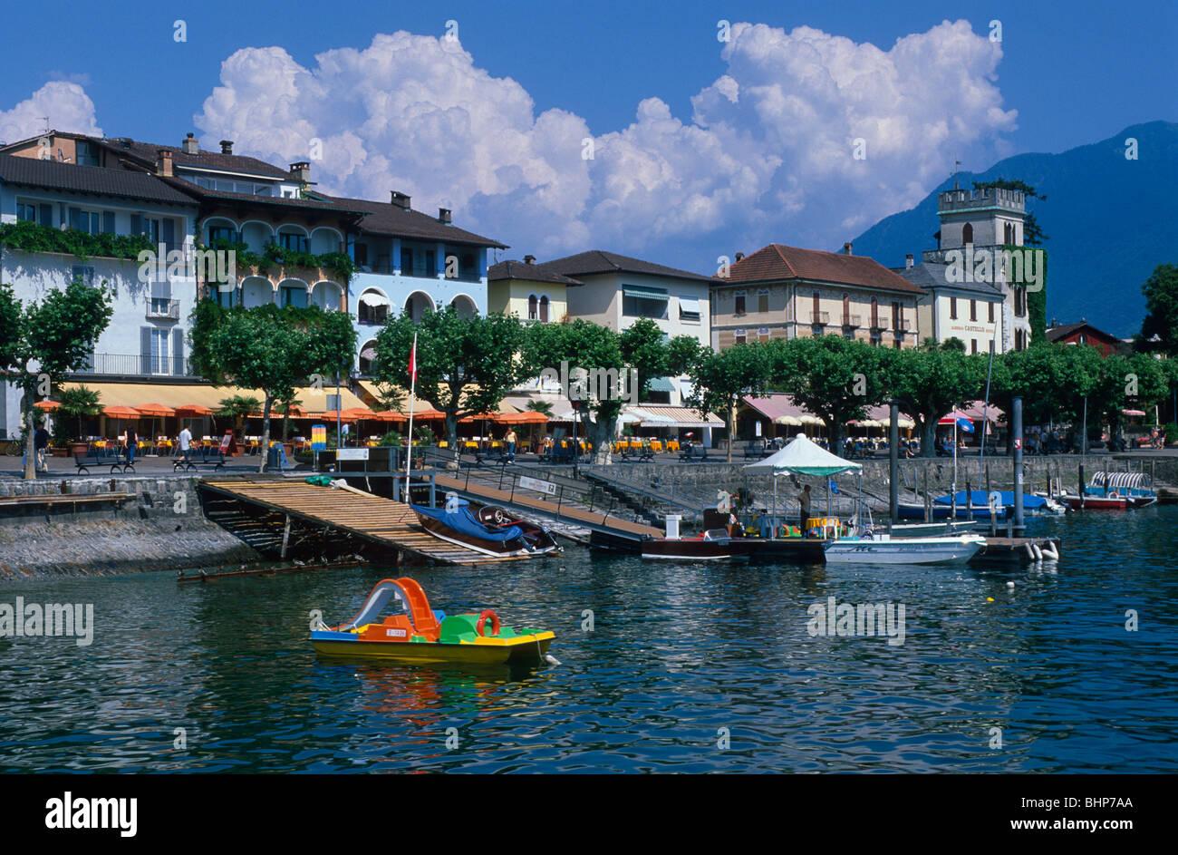 Lakeside Ascona - Stock Image