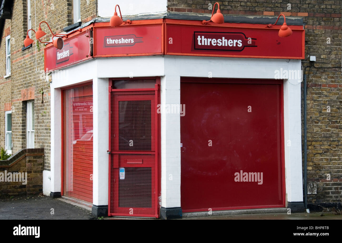 Closed Threshers off-licence, Shortlands, South London - Stock Image