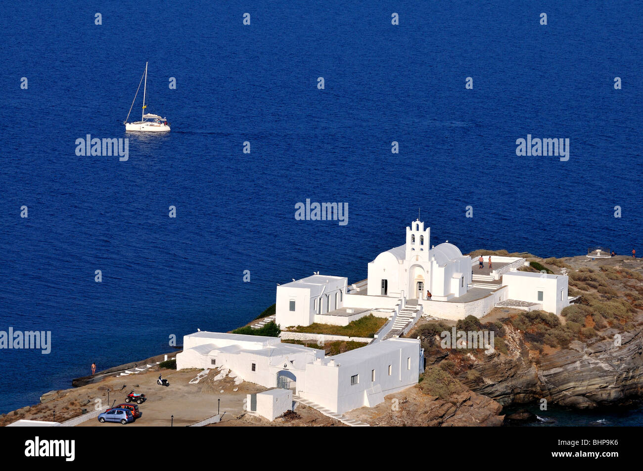 Chrisopigi monastery, Sifnos island, Greece Stock Photo