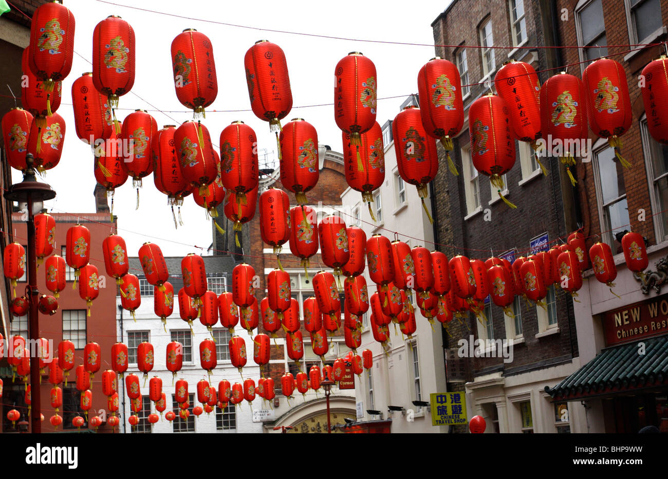Chinese new year celebrations  Soho China town  in London UK 2010 - Stock Image