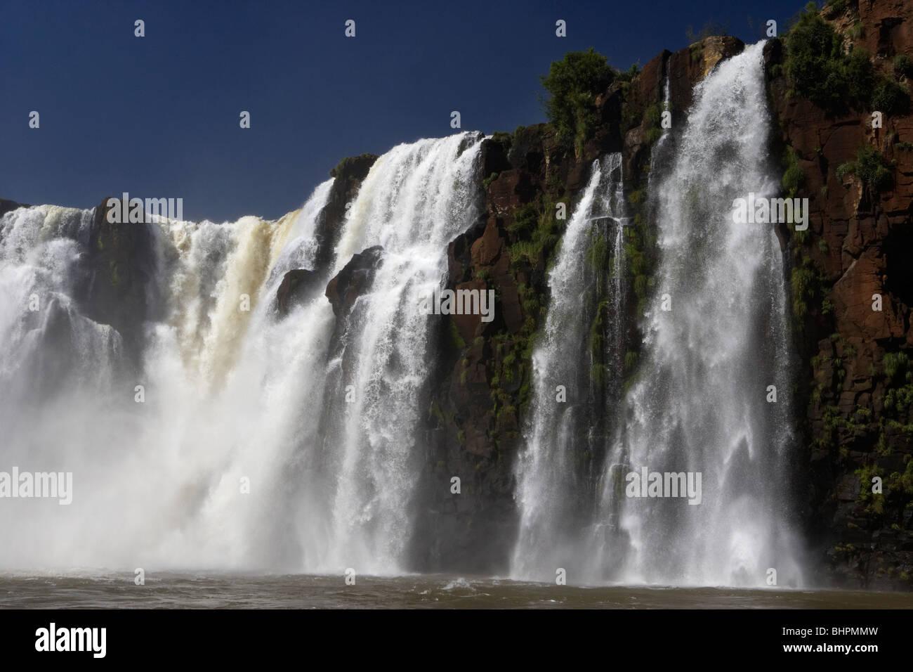 tres mosqueteros fall in iguazu falls iguazu national park, republic of argentina, south america - Stock Image