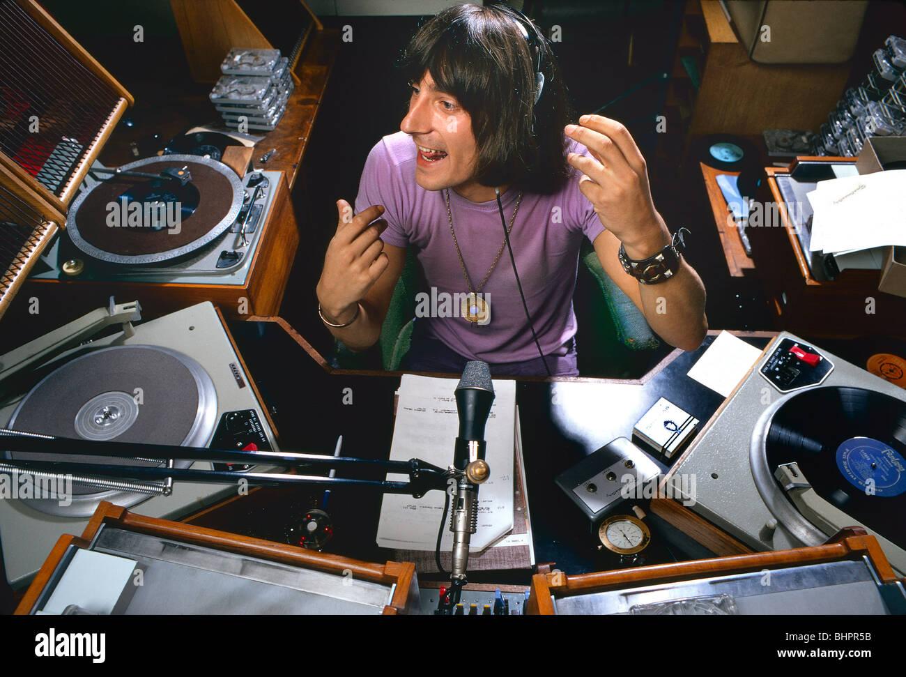 Historic 1960s Broadcasting At BBC Pop Music Stuart Henry Disc Jockey Live The Show Radio 1 Studios London In