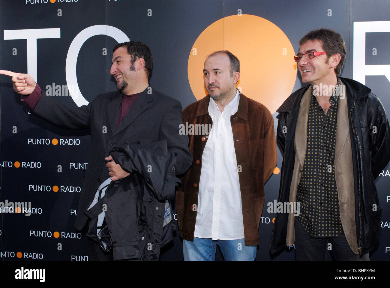 Toni Soler, Sergi Mas y Queco Novell attending to the protagonistas awards in Barcelona Stock Photo