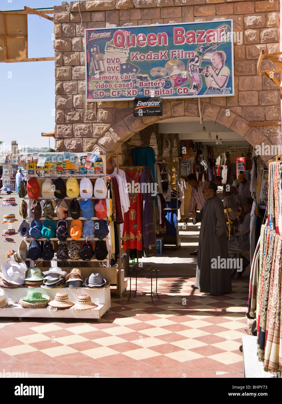 Queens Bazar, vendors waiting for the tourists - Stock Image