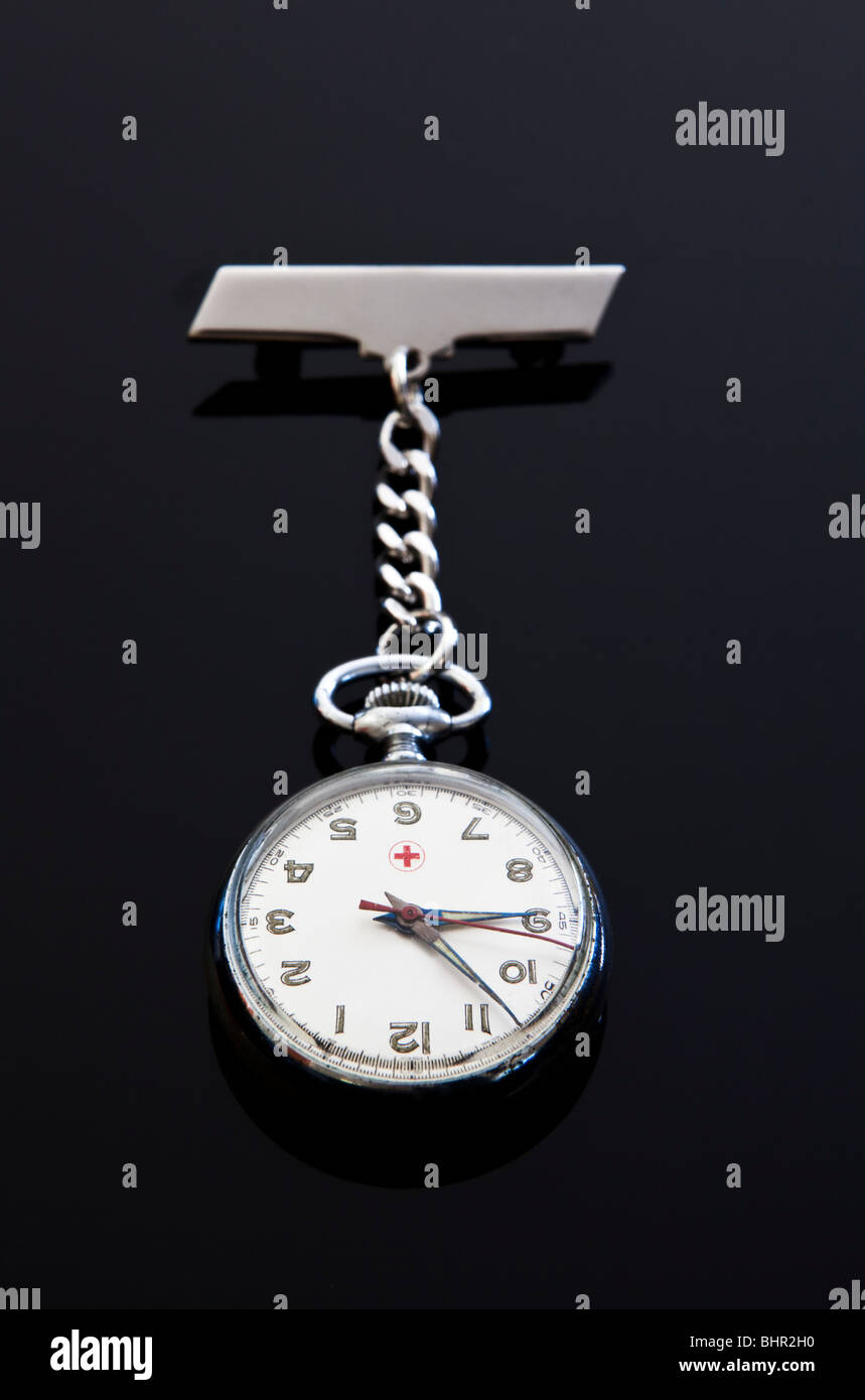 Nurse's fob watch - Stock Image