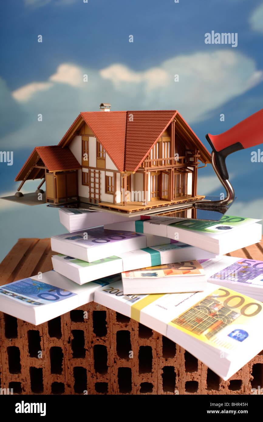 Mortgage finance money - Stock Image
