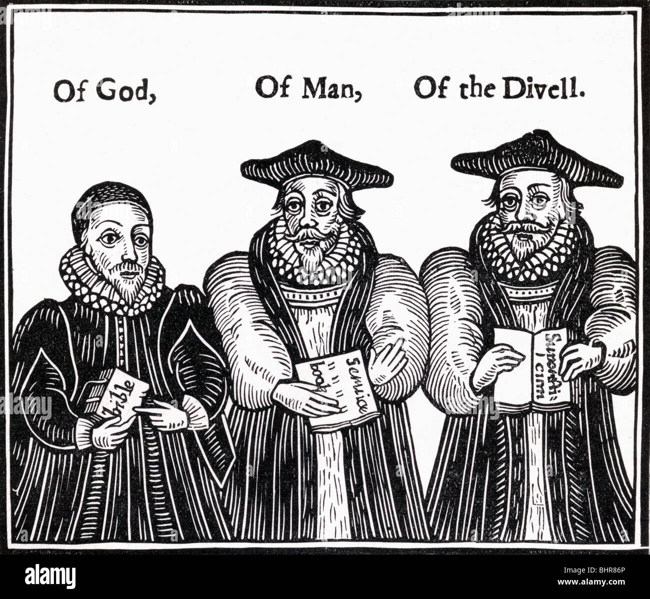 Triple Episcopacie. Of God, Of man, Of the Divell. - Stock Image